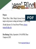 Writers Bloc Meeting 9-13