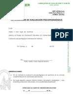 Autorización evaluación psicopedagógica