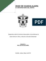 Diagnóstico Sobre Los Factores Relacionados a Los Problemas de Salud Mental en Niños y Niñas de La Escuela Solidaridad