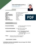 C.v. Luis Salvador Meneses Davila