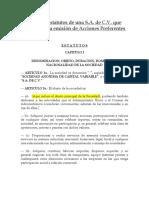F4. Formato de Estatutos de una SA de CV que contempla la emisión de Acciones Preferentes.docx