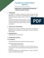 Terminos de Refrencia - Camion Cisterna