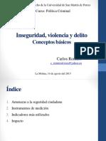 Carlos Romero-Inseguridad Violencia y Delito- Conceptos Básicos 14 08 15