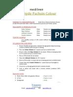 Aldehyde Fuchsin Colour