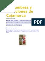Costumbres y Tradiciones de Cajamarca