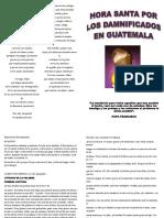 Hora Santa Los Damnificados en Guatemala