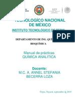 Manual de Prácticas Química Analítica