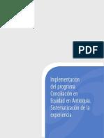 Sistematización Conciliación en Equidad en Antioquia