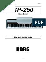 Spanish Manual SP-250 KORG