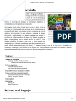 Lenguaje No Sexista - Wikipedia, La Enciclopedia Libre