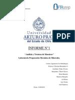 Informe N°1 Preparación Mecánica