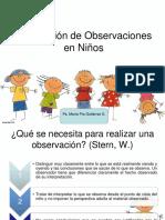 Observación Niños