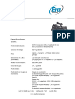 Ficha técnica Panasonic
