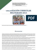 ORGANIZACION CURRICULAR MULTIGRADO