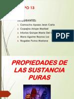 Propiedades de Sustancias Puras. Grupo 13.