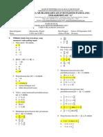 Naskah Soal Kelas x Ipa Dan x Ips 1 Math Wajib 18-19