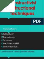 constructivist instructional techniques