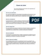 Clases de Actas_Parra