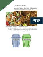 La Materia Organica Es Un Desecho