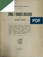 lendas e Tradicoes Brasileiras. Affonso Arinos 1917..pdf