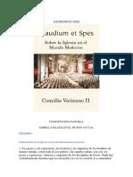 Gaudium Et Spes - Concilio Vaticano II