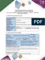 Guía de Actividades y Rúbrica de Evaluación - Tarea 2 - Hitos Del Desarrollo Evolutivo