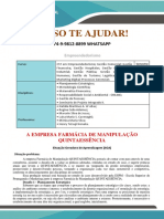 PROPAGANDA Empreendedorismo 1 e 2 Sem a Empresa Farmácia de Manipulação QUINTAESSÊNCIA