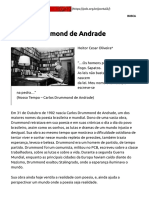 Carlos Drummond de Andrade – PCB – Partido Comunista Brasileiro
