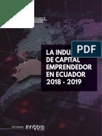 La Industria de Capital Emprendedor en Ecuador 2018-2019