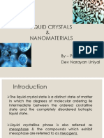 Liquid crystals and nanomaterials ppt