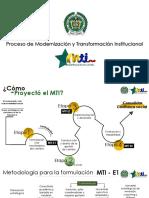 1. Proceso de Modernización y Transformación Institucional