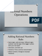 2 Rational Numbers Operations