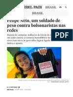 Felipe Neto, Um Soldado de Peso Contra Bolsonaristas Nas Redes _ Brasil _ EL PAÍS Brasil