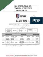 MA-GAF-02.16 Manual de Seguridad Del Laboratorio de Procesos Industriales (v1)