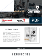 Media kit del Grupo Editorial Criterio con Newsweek y Animal Politico