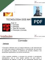Aula 12 _ Corrosão Definição Tipos de Corrosão. Prevenção a Corrosão..pdf