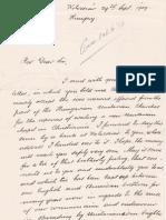 FerenczJozsef Letter to Oslo