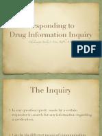 Unit IV - Responding to Drug Inquiry