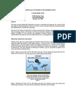 Fundamentals of Energy Determination J David Hailey
