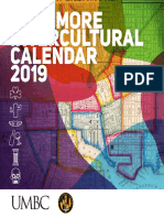 UMBC Baltimore Intercultural Calendar 2019
