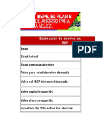 Tabla Estimación Bep 2019