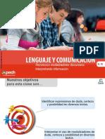 Clase 13 Reconozco Modalizadores Discursivos Interpretando Información 2016 CEG