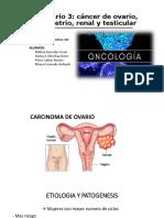 Seminario 3. Cancer de Ovario, Enmetrio, Renal y Testiculo