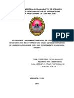 APLICACIÓN DE LA NORMA INTERNACIONAL DE CONTABILIDAD N° 2 INVENTARIOS Y SU IMPACTO TRIBUTARIO EN LOS ESTADOS FINANCIEROS DE LA EMPRESA ROSALINDA E.I.R.L. DEL DEPARTAMENTO DE AREQUIPA, AÑO 2015