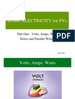 BASIC ELECTRICITY Part 1-Volts, Amps, Watts, Series, Parallel (EIM).ppt