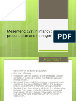 Mesenteric Cyst in Infancy