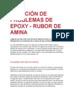 SOLUCIÓN DE PROBLEMAS DE EPOXY - RUBOR DE AMINA