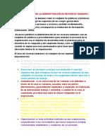 Caracteristicas de La Administracion de Recursos Humanos (1)