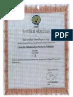 Sertifikat Akreditasi Institusi 2013 1111