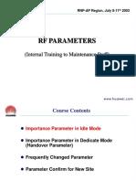 TRAINING TO MAINTENANCE 2 (RF PARAMETERS)